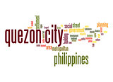 Queson city word cloud