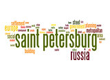 Saint Petersburg word cloud