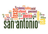 San Antonio word cloud