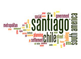 Santiago word cloud