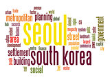 Seoul word cloud