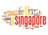 Singapore word cloud