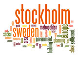 Stockholm word cloud