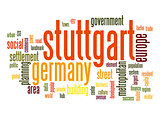 Stuttgart word cloud