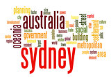 Sydney word cloud