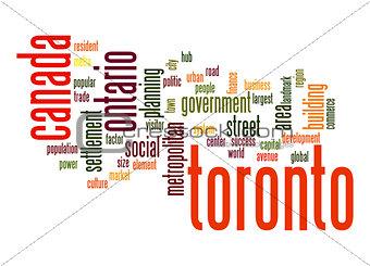 Toronto word cloud