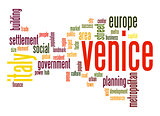 Venice word cloud