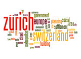 Zurich word cloud
