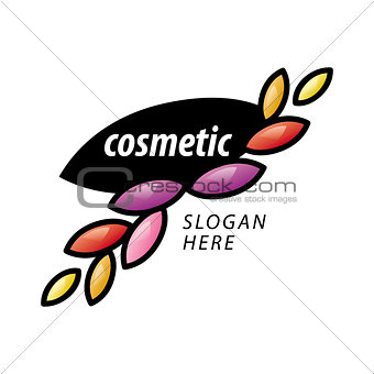 abstract vector logo of the petals for cosmetics