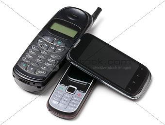 three generation cellphones