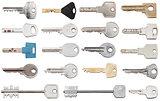 set of different door keys