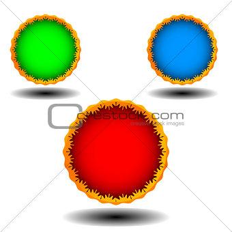 Three web icons