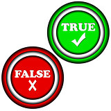 Buttons true and false