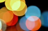 abstract blurry lights at night