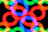 light dots and colorful circles
