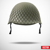 Background of Military green helmet.