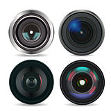 Set of Photo Lens isolated