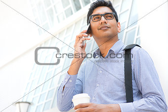 Indian male office worker.