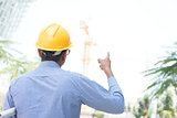 Indian male site construction contractor