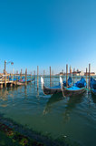 Venice Italy pittoresque view of gondolas