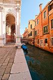 Venice Italy scuola San Rocco back view