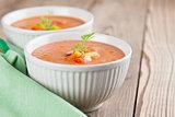 Gazpacho in bowls