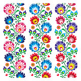 Seamless traditional folk polish pattern - seamless embroidery stripes