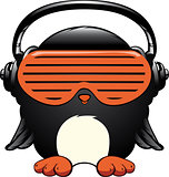 Penguin in the headphones
