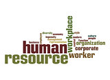 Human resource word cloud