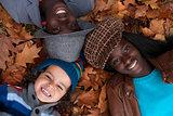 Multiracial portrait of 3 kids