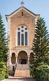 Facade of an ancient trappist monastery,  Latrun, Israel