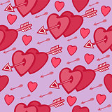 Seamless heart background