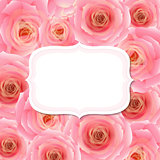 Label With Pink Rose