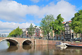 Amsterdam. Bridge across the canals