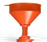 dipped orange funnel