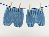 knitted newborn pants