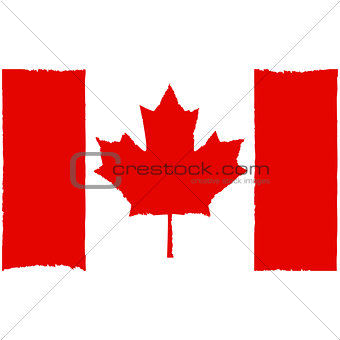 Painted Canadian flag