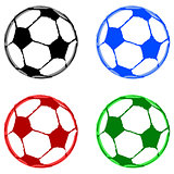 Painted soccer balls