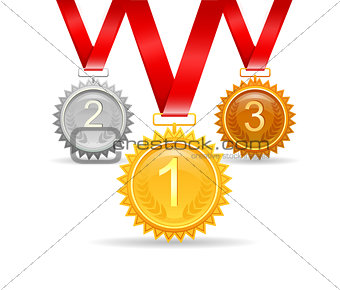 Three medals for awards
