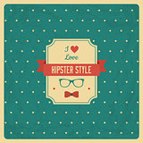 Vintage Geometric Vintage Background with Hipster Label. Grunge Texture, Hipster Style,Pattern