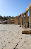 Ruins of the Greco-Roman city of Gerasa. Ancient Jerash.
