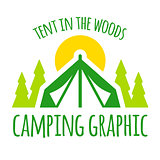 Camping tent graphic