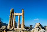 Temple of Zeus in the ancient Nemea