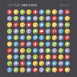 100 Flat Web Icons
