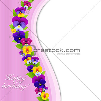 Background With Pansies
