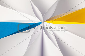 Abstract colorful background from paper sheets