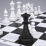 Chess on the chessboard