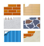 Wall. Set of building icons.