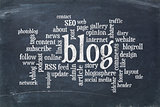 blog  word cloud on blackboard