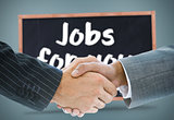 Composite image of business handshake against jobs